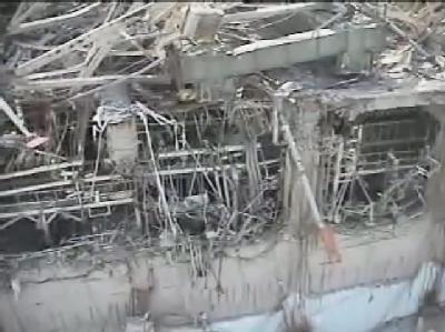 Reaktor Nr.3 von Fukushima Eins, aufgenommen mit einer Drohne. (Foto: Tepco)