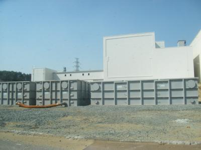Die Lagertanks, in denen Wasser gesammelt wird. (Foto: Tepco)