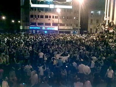 Demonstranten im syrischen Homs
