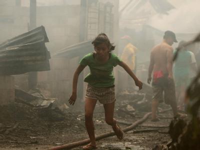 Großbrand in Manila