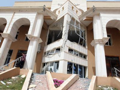 Zerst�rtes Haus in Zwara