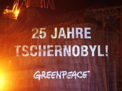 Aktion zum Jahrestag des Tschernobyl-Unglücks