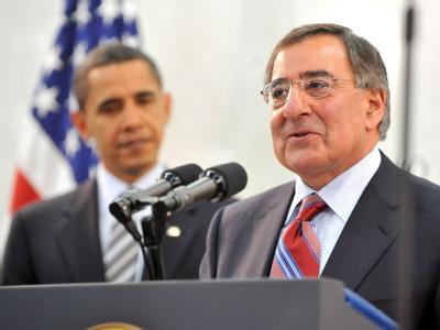 US-Präsident Barack Obama und CIA-Direktor Leon Panetta (r.) im April 2009