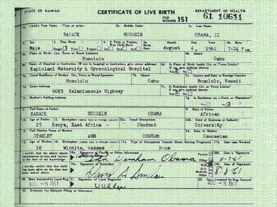 US-Präsident Barack Obama hat seine Geburtsurkunde im Internet veröffentlichen lassen.