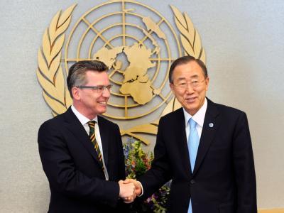 Thomas de Maizi�re und Ban Ki Moon
