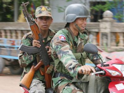 Kambodschanische Soldaten