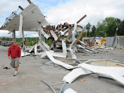 Tornado-Schäden im US-Bundesstaat Georgia