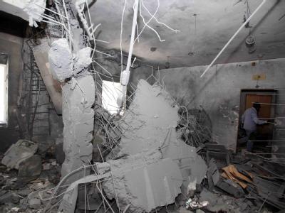 Das zerstörte Gaddafi-Haus in Tripolis.