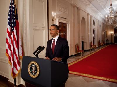 US-Präsident Barack Obama gibt den Tod Osama Bin Ladens bekannt.