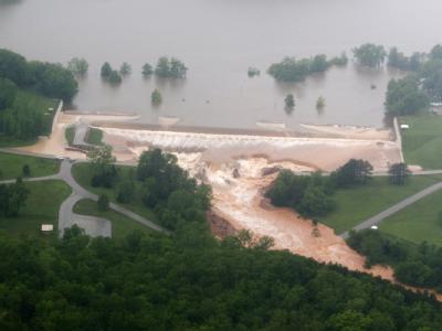 Hochwasserfluten in den USA