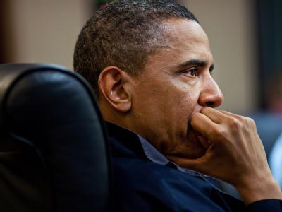 US-Präsident Barack Obama am 1. Mai während einer Konferenz im
