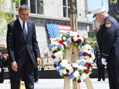 Kranzniederlegung am Ground Zero.