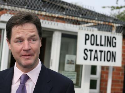 Nick Clegg, Chef der britischen Liberaldemokraten, kann mit dem Ergebnis kaum zufrieden sein.
