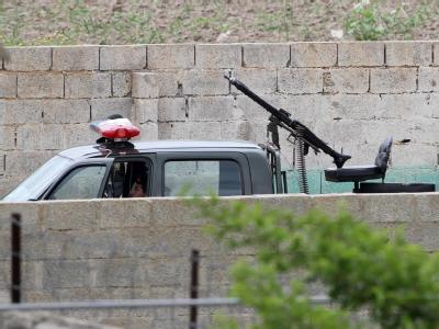 Soldaten vor Bin Ladens Anwesen in Pakistan