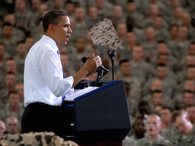 US-Präsident Barack Obama bei seiner Rede in Fort Campbell.