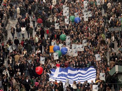 Ungeachtet der nahenden neuen Hilfsaktion für den Schuldensünder Griechenland machen die Gewerkschaften dort abermals mobil. (Archivfoto)