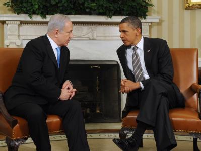Israels Ministerpräsident Benjamin Netanjahu und US-Präsident Barack Obama im Weißen Haus.