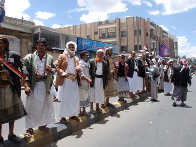 Anhänger von Jemens Präsident Ali Abdullah Salih in der Hauptstadt Sanaa