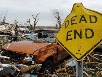 Eine Schneise der Verwüstung hat der Tornado in Joplin im Südwesten des US-Staats Missouri hinterlassen.