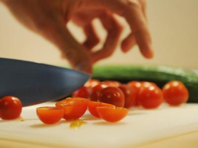 Tomaten und Salatgurke