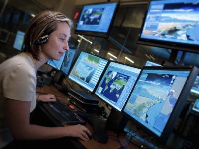 Das Handout des US Rüstungsunternehmens Lockheed Martin Aeronautics zeigt das NexGen Cyber Innovation and Technology Center der Firma in den USA. (Archivbild)