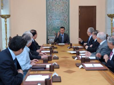 Assad bildete Anfang Juni eine so genannte «Kommission für den nationalen Dialog». Foto: SANA