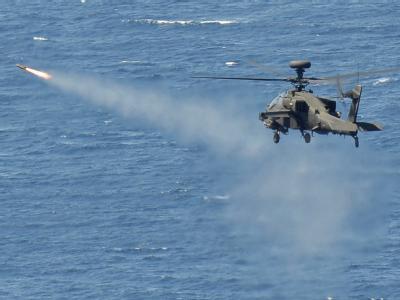 Ein britischer Apache-Helikopter im Einsatz.