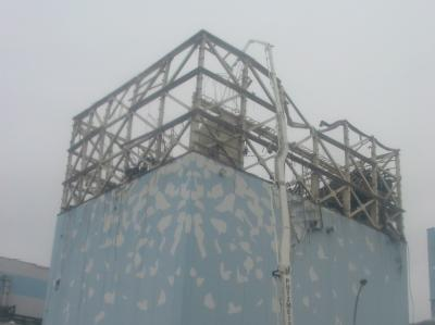 Ein Handout des Betreibers Tepco vom 24.05.2011 zeigt das Reaktorgebäude von Block 1 des zerstörten Atomkraftwerks Fukushima.