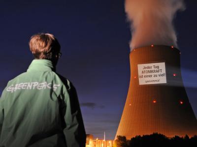 Greenpeace demonstriert gegen Atomkraft