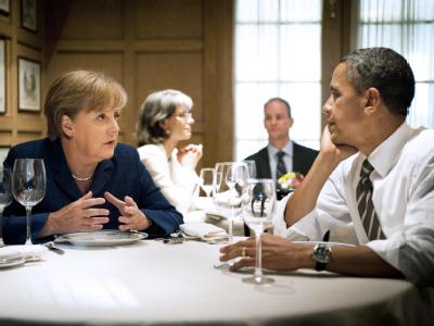 Privates Abendessen Merkel - Obama