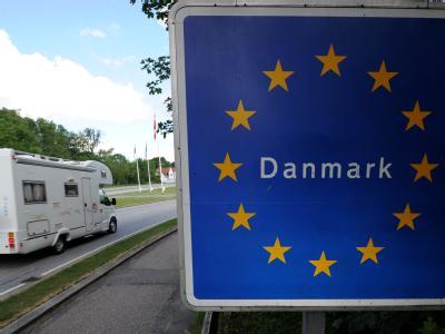 Einzigartig inj der Schengen-Zone: Deutsch-dänischer Grenzübergang zwischen Flensburg und Krusa.