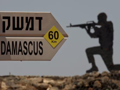 Symbolhaft: Die Statue eines Soldaten an der israelisch-syrischen Grenze.