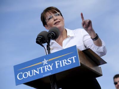 Tausende E-Mails der erzkonservativen US-Politikerin Sarah Palin (Archivfoto vom 13.10.2008) sind nun auch online durchsuchbar.