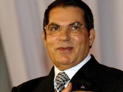 Der damalige tunesische Präsident Zine el Abidine Ben Ali in Tunis am Ende Juli 2008.