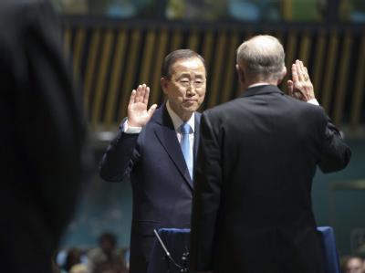 Manche fanden ihn blass, doch dann holte UN-Generalsekretär Ban Ki Moon allmählich auf - und nun applaudierte ihm die UN-Vollversammlung.