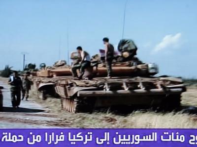 Syrische Panzer im Norden des Landes (Archiv).
