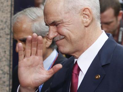Griechenlands Premierminister Georgios Papandreou bei seiner Ankunft in Brüssel zum EU-Gipfel.
