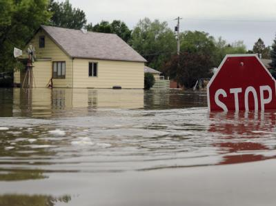 Überschwemmung in North Dakota