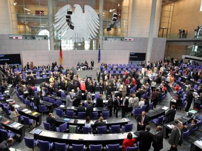 Abstimmung über den Atomausstieg im Bundestag.