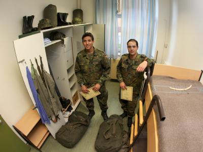 Wehrpflichtige verlassen Bundeswehr