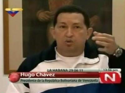TV-Bild von Venezuelas Präsident Hugo Chávez: Er ist seit fast vier Wochen auf Kuba.