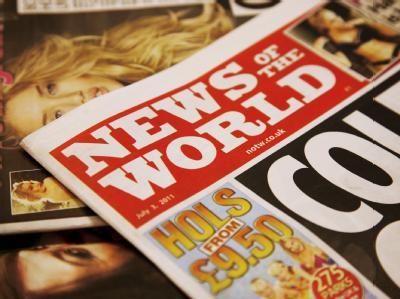 Die Ausgabe der «News of the World» vom 03. Juli: Nach dem Abhörskandal bei dem britischen Boulevardblatt wird die Zeitung eingestellt. Am kommenden Sonntag erscheint die letzte Ausgabe.