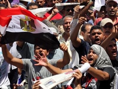 Enttäuschte Ägypter protestieren wie im Revolutionswinter auf dem Tahrir-Platz in Kairo.