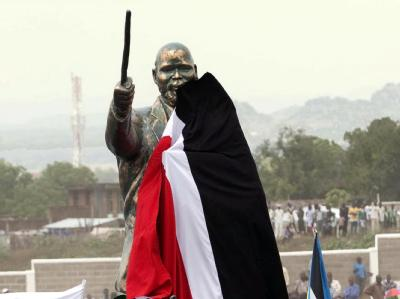 Die Statue des Freiheitskämpfers John Garang.