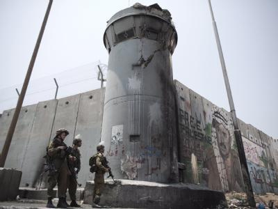 Israelischer Checkpoint in Ramallah