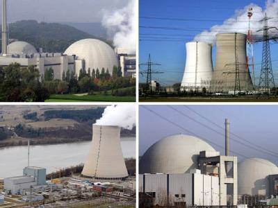 Die Bildkombo zeigt die AKWs Neckarwestheim, Philippsburg, Isar 1 sowie Biblis A und B. 4. Eines der acht abgeschalteten Atomkraftwerke bleibt vermutlich als Reserve am Netz.