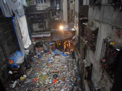 Verwüstung auf dem Zaveri Bazar in Mumbai.