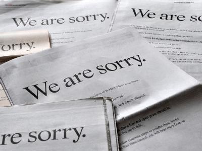 Mit ganzseitigen Anzeigen in sieben britischen Zeitungen will Rupert Murdoch den Imageschaden eindämmen.
