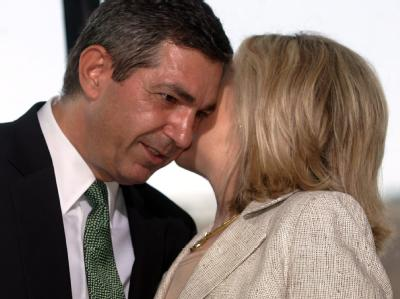 Hillary Clinton trifft sich mit mit ihrem griechischen Amtskollegen Stavros Lambrinidis.