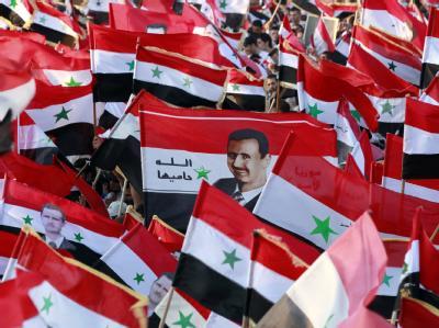 Pro-Assad-Demonstration